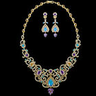 Exquisite Classic Cubic Zirconia Choker 1 Necklace + 1 Earrings Jewelry Set