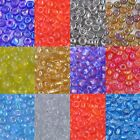 50g Size 8/0 (approx 3mm) GLASS SEED BEADS - CHOICE OF 12 COLOURS