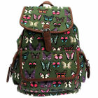 Girls Ladies Women Retro Backpack Rucksack School College Travel Laptop Work Bag