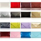 Medium Patent Ladies Flat Clutch Bridal Party Envelope Women Evening Bags Prom