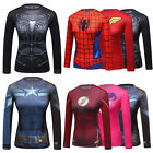 Women's Gym Compression Marvel Superhero Tops Sport Bicycle Jersey T-Shirt WS03