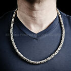 Bali Byzantine Necklace - Heavy 6mm Wide Chain - 925 Solid Silver