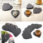 Heart Natural Black Slate Food Dinner Setting Serving Placemat Trays Wedding Mat