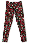 Women leggings Feather Butterfly red background Leggings free shipping