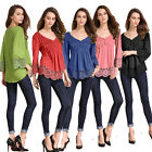 Sexy Women Girl Lace OL T-Shirt Tops Casual Blouse Clothes Summer Party Blouses