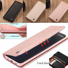 Samsung Galaxy S8+ Note8 Genuine Leather Case Card Holder Wallet Stand TPU Cover
