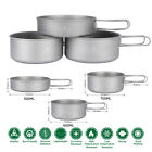Boundless Voyage Titanium Camping Cookware Pot Set Lightweight Backpacking
