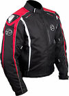 BUFFALO SPYKER TEXTILE MOTORCYCLE JACKET - BLACK/RED
