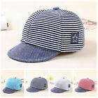 Внешний вид - Baby Boy Autumn Hats Striped Soft Cotton Eaves Baseball Cap Sun Hat Beret Sunhat