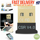 Mini USB Bluetooth 4.0 CSR4.0 Adapter Dongle for PC LAPTOP WIN XP VISTA 7 8 10