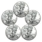 Special Price!! 2017 1 oz Silver American Eagles BU 5 Coin Lot