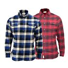 MENS SHIRT  BRUSHED CHECK SHIRT LONG SLEEVE THICK COTTON CASUAL TOP (S-XL)