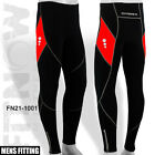 Mens Winter Cycling Tights Trouser Cycle Coolmax Padded Legging RED - M - L - XL