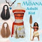Movie Moana Princess Figures Cosplay Costume & Wigs Cosplay Party Outfit Lot