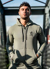 GK Tracksuit Mens New Plain Fleece casual Top Zipped Hoodie