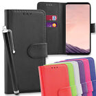 Leather Flip Wallet Case Cover for Samsung Galaxy S8 Plus with Long Stylus Pen