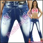 Plus Size Jeans Women's Tattoo Crazy Age Ladies Trousers Big Size 14,16,18,20,22