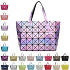 Quilted Sequin Shoulder Bag Geometric Lattice Laser Ladies Handbag Women Popular