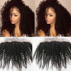 "13x2"" Deep Curly Ear to Ear  Lace Frontal Closure  Remy Human Hair Bleach knots"