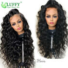 13 6 Fake Scalp Lace Front Human Hair Wigs Pre Plucked Remy Peruvian Loose Wave