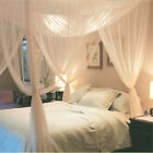 US Stock Fast 4 Corner Mosquito Net Fly Insect Bed Curtain Canopy Queen King