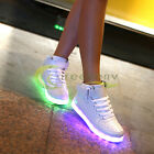 NEW 2017 High Top Led Light Up Shoes 7 Color Flashing Rechargeable Sneakers