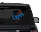 Los Angeles DODGERS baseball RED & BLUE decal sticker for car, laptop, yeti on Ebay