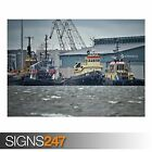 TUGBOATS (AC029) POSTER - Photo Picture Poster Print Art A0 A1 A2 A3 A4