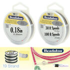 "30ft-100ft Beadalon 19 Strand .018"" BRIGHT Stainless Steel Flex Beading Wire"
