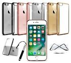 Apple iPhone 6s 4.7* Slim Transparent Gel Chrom Effekt-kante Gehäuse & Ret Stift