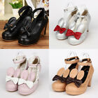 Gothic Sweet Lolita Girls Mädchen Hase Ohr Ear Bogen Bow Schuhe Shoes Cosplay