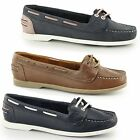 Chatham ROSANNA Ladies Womens Leather Slip On Comfort Casual Cushion Boat Shoes