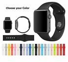 Replacement Silicone Wrist Bracelet Sport Band Strap For iwatch 38mm/42mm