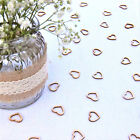 Wedding Table Decorations Hollow Rustic Small Wooden Love Hearts Table Confetti