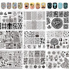 Born Pretty Nail Art Stamping Plate Image Stamp Template Rectangle Square Round