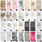 Personalised Name Initials Gold Marble Printed Glitter Custom Iphone Phone Case