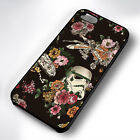 FLORAL STAR WARS PATTERN BLACK PHONE CASE COVER FITS IPHONE 4 5 6 7 (#BH) £5.49 GBP
