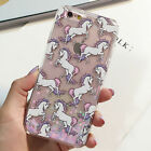 GLITTER UNICORN Hearts Skinny Dip Liquid Phone Case Cover For iPhone 5 5S 6 6S