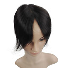 7x11CM PU & Mono Virgin Human Hair Straight Toupee Hair Top Pieces for Loss HaIR