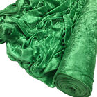 Premium CRUSHED VELVET FABRIC Craft Stretch Velour Material Extra Wide