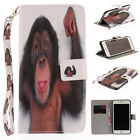 Animal Flip Trend PU Leather Book Card Wallet Stand Case Cover For Apple Phones
