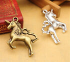 5/20/100pcs Wholesale Tibetan Silver Horse Jewelry Charm Pendant 29x27mm