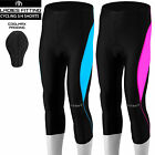 Women Cycling Tights 3/4 Shorts Padded Ladies Leggings Anti Bac Coolmax Pad