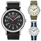Timex Weekender | Nylon Slip-Thru Strap White Dial | Casual Unisex Watch
