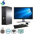 FAST Dell Desktop Computer PC Core 2 Duo 2.4Ghz 4GB RAM Windows 10/7 Pro