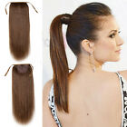 "15""-22""100% CLIP-IN HIGH PONYTAIL HUMAN HAIR EXTENSIONS BLACK BLONDE 80 GRAMS"