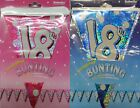 18th birthday Sparkly Foil Birthday Bunting Strung Pennant Flag Banner Party Dec