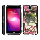 For LG X Power 2 / LG LV7 / LG X Charge Case Rugged Holster Belt Clip Kickstand