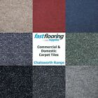 Quality Carpet Tiles 5m2 Box Heavy Duty Hard Wearing Retail - Office Flooring