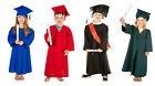 Graduation Gown & Cap fancy dress nursery school 3-5yrs Boys Girls Kids Costume